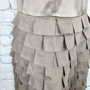 Reiss Dresses - Reiss strapless bronze tiled dress 6